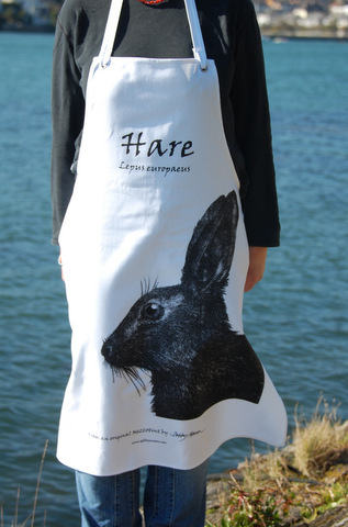 Cotton Apron - Hare in 'My Designs'