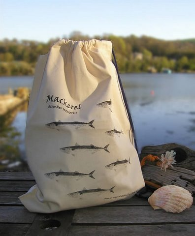 Canvas Bag - Mackerel in 'My Designs'