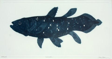 Coelacanth Blue with Silver Leaf in 'Coral Seas'