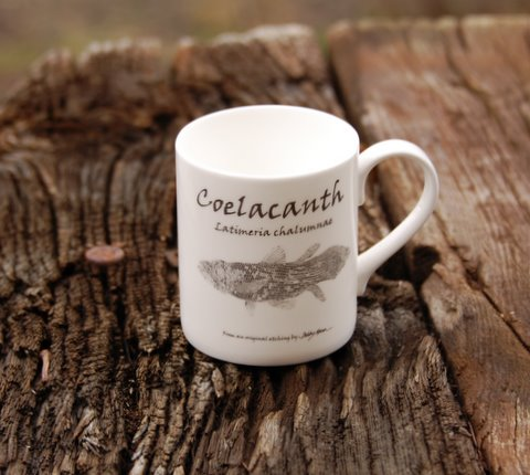 Bone China Coelacanth Mug in 'My Designs'