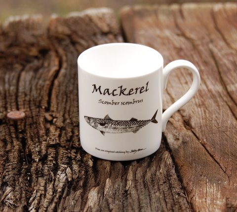 Bone China Mackerel Mug in 'My Designs'