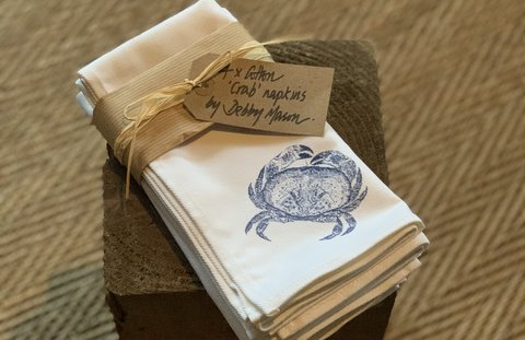 Crab Cotton Napkins - Pack of 4