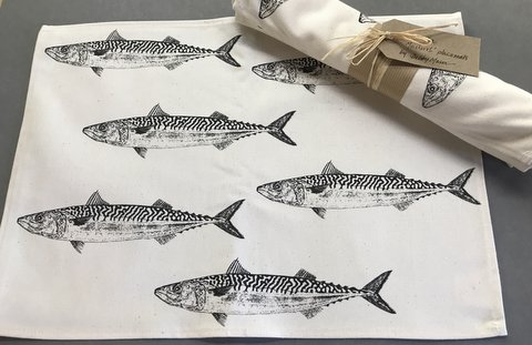 Mackerel Placemats - Pack of 4