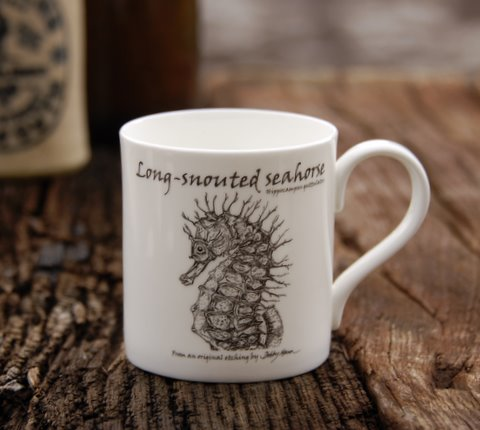 Bone China Seahorse Mug in 'My Designs'