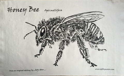 Bee Tea Towel in 'My Designs'