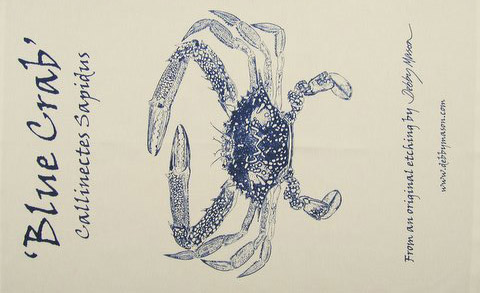 Blue Crab Tea Towel in 'My Designs'