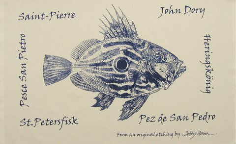 John Dory Tea Towel in 'My Designs'