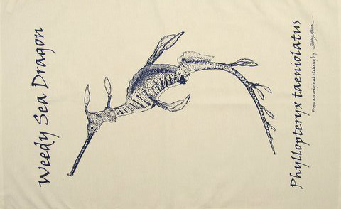Sea Dragon Tea Towel in 'My Designs'