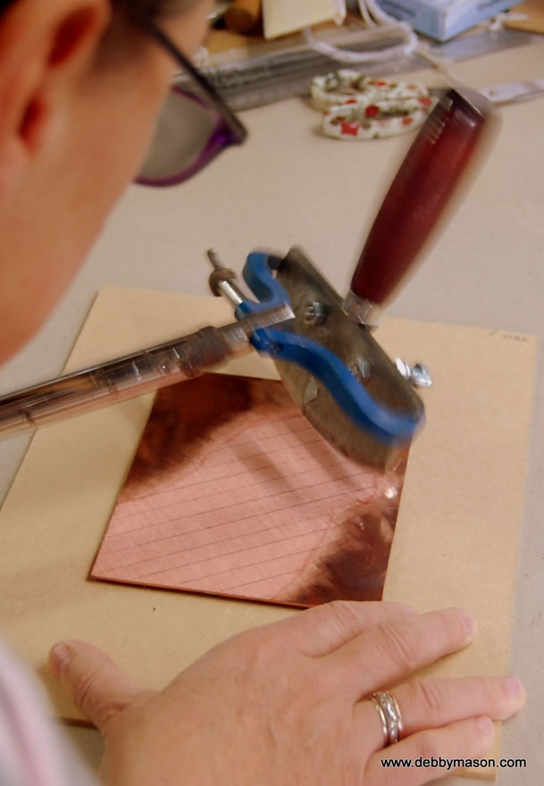 The Mezzotint rocker in action